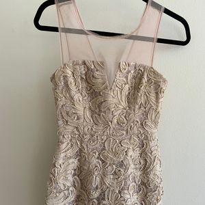 Champagne BCBGMaxAzria 'Abigail' Dress Size 2